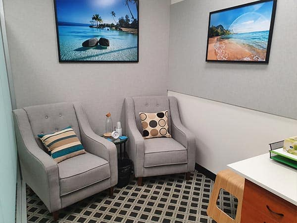 Counselling in Melbourne Rooms - client chairs